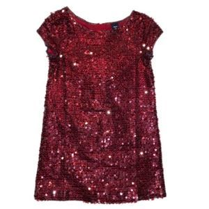 GAP Dark Red Sequin Dress Size Small 6/7